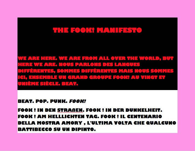 FOOK! Manifesto Art